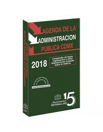 AGENDA DE LA ADMINISTRACION PUBLICA DE LA CIUDAD DE MÉXICO 2018