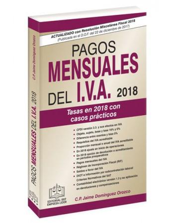 PAGOS MENSUALES DEL IVA 2018