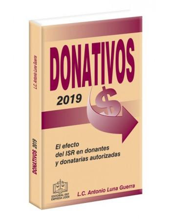 DONATIVOS 2019 EL EFECTO DEL ISR EN DONANTES Y DONATARIAS AUTORIZADAS