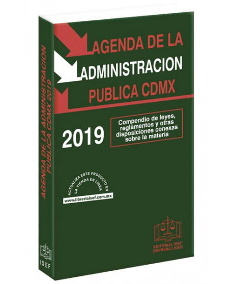 AGENDA DE LA ADMINISTRACION PUBLICA DE LA CIUDAD DE MÉXICO 2019