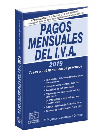 PAGOS MENSUALES DEL IVA 2019