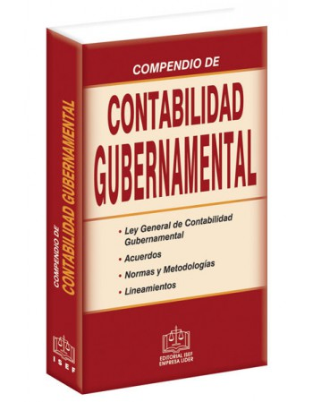 COMPENDIO DE CONTABILIDAD GUBERNAMENTAL 2019