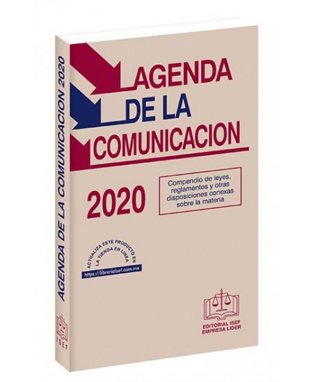 AGENDA DE LA COMUNICACIÓN 2020