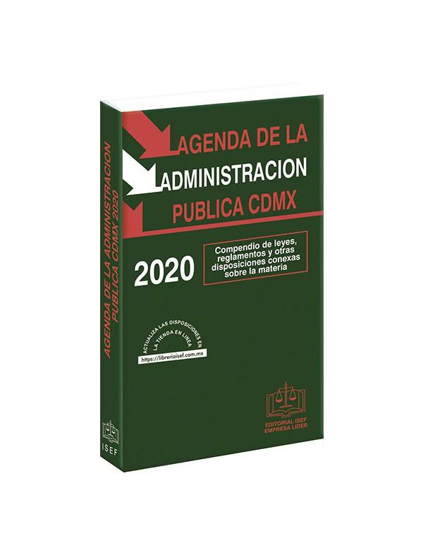 AGENDA DE LA ADMINISTRACION PUBLICA DE LA CIUDAD DE MÉXICO 2020