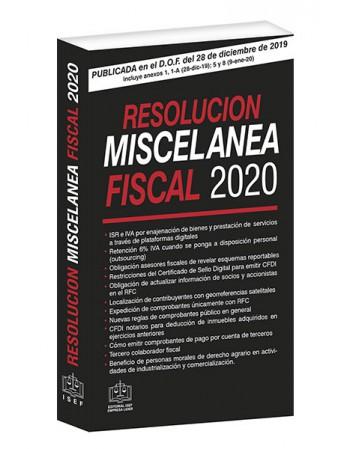 RESOLUCION MISCELANEA FISCAL 2020