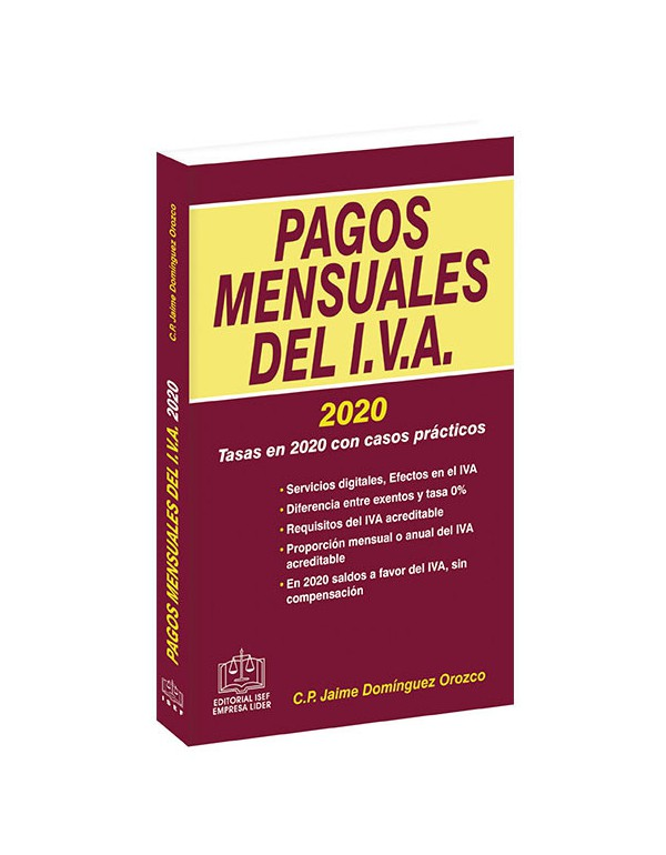 PAGOS MENSUALES DEL IVA 2020
