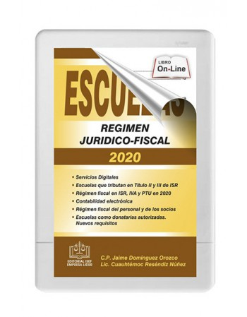ESCUELAS RÉGIMEN JURÍDICO-FISCAL 2020