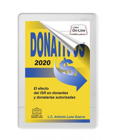 DONATIVOS 2020 EL EFECTO DEL ISR EN DONANTES Y DONATARIAS AUTORIZADAS