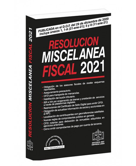 Resolución Miscelanea Fiscal 2021
