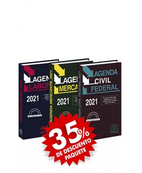 Paquete de 3 Agendas: Agenda Laboral + Agenda Mercantil + Agenda Civil Federal