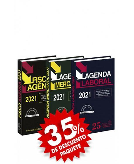 Paquete de 3 Agendas: Fisco Agenda + Agenda Laboral + Agenda Mercantil